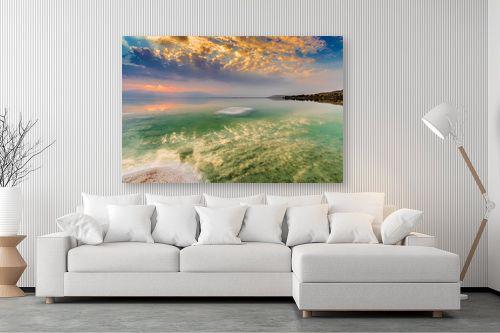תמונה לסלון - ניקולאי טטרצ'וק - זריחה בים המלח - מק''ט: 308330