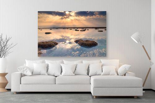 תמונה לסלון - ניקולאי טטרצ'וק - זריחה בים המלח - מק''ט: 308331