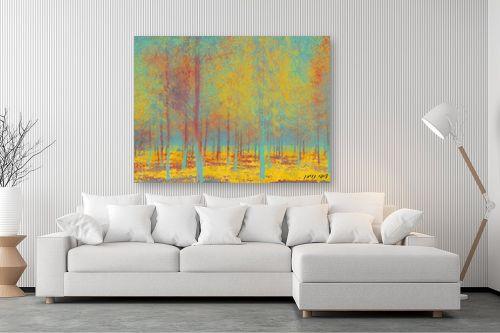 תמונה לסלון - ציפי ניומן - יער של צבעים - מק''ט: 310828