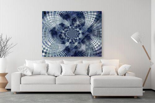 תמונה לסלון - רעיה גרינברג - מנדלה בכחול - מק''ט: 312167