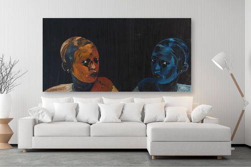 תמונה לסלון - אסתר טל - מראה כחולה - מק''ט: 316220