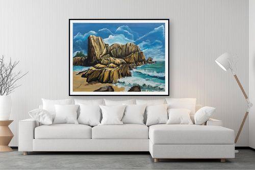 תמונה לסלון - דיאנה אורן - סלעים  בים - מק''ט: 316286