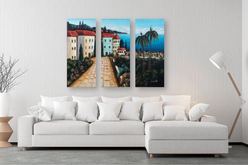תמונה לסלון - מזל בוכריס - עיירה באיטליה - מק''ט: 316369