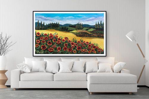תמונה לסלון - מזל בוכריס - כלניות אדומות - מק''ט: 316443