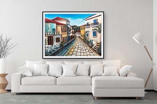 תמונה לסלון - מזל בוכריס - גגות אדומים - מק''ט: 316447