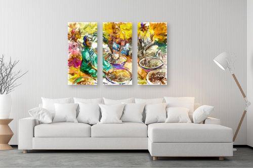 תמונה לסלון - בן רוטמן - נשים ושווקים צבעוניות - מק''ט: 320422