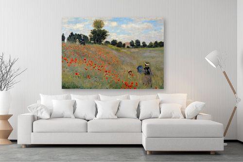 תמונה לסלון - קלוד מונה - Wild poppies - מק''ט: 322606