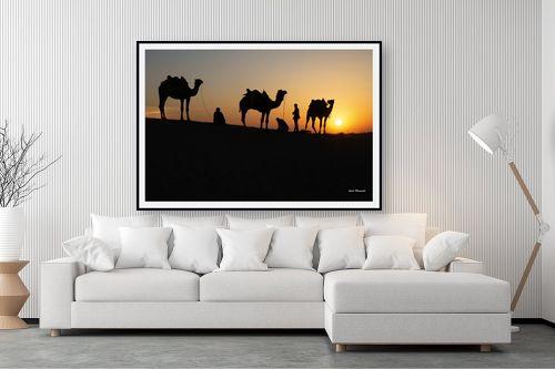 תמונה לסלון - ענת שיוביץ - שקיעה שיירת גמלים - מק''ט: 326520