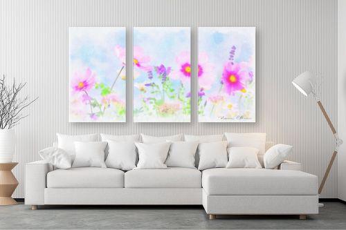 תמונה לסלון - נעמי עיצובים - שדה פרחים - מק''ט: 329527