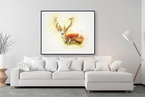 תמונה לסלון - Artpicked - אייל בצבעי מים - מק''ט: 329677
