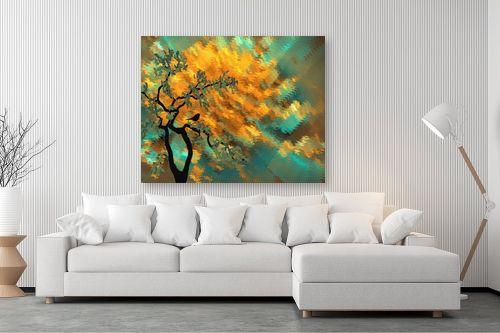 תמונה לסלון - Artpicked - שלכת דיגיטלית - מק''ט: 330376