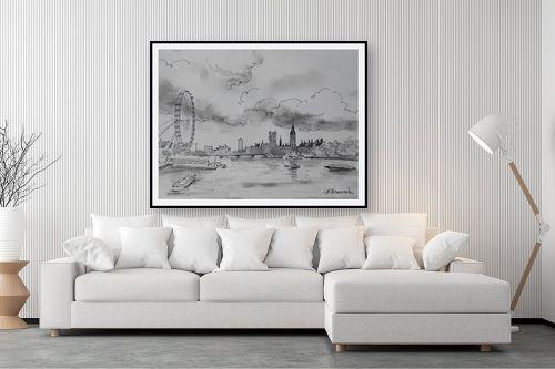 תמונה לסלון - נטליה ברברניק - נוף של התמזה - מק''ט: 330481