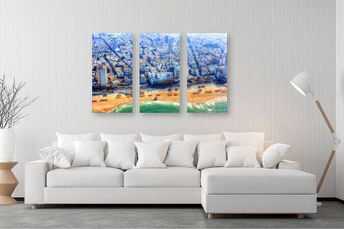 תמונה לסלון - מתן הירש - חוף פרישמן מלמעלה - מק''ט: 331123