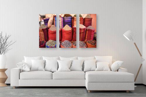תמונה לסלון - אורלי שטטינר - שקים אדומים עם תבלינים - מק''ט: 332017