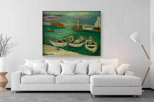 תמונה לסלון - אסתר חן-ברזילי - מעגן סירות - מק''ט: 332311