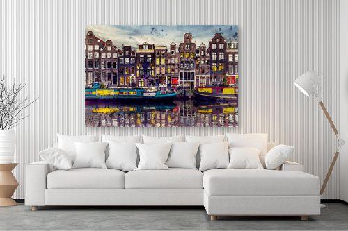 תמונה לסלון - Artpicked - אמסטרדם אהובתי - מק''ט: 333001