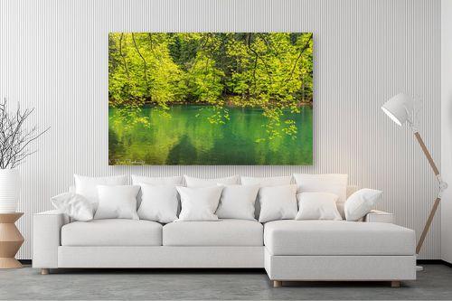 תמונה לסלון - דורית ברקוביץ - גוונים של ירוק - מק''ט: 333396