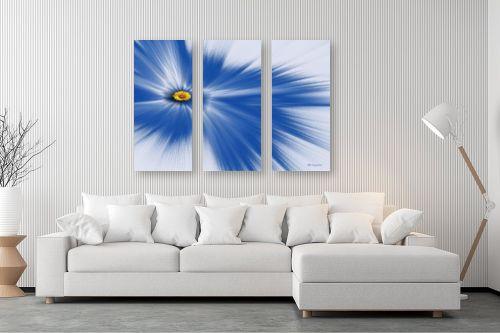 תמונה לסלון - רעיה גרינברג - ליחה כחול - מק''ט: 333520