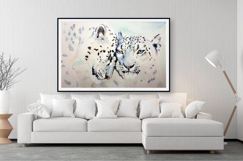 תמונה לסלון - Artpicked - נמרים לבנים - מק''ט: 333622