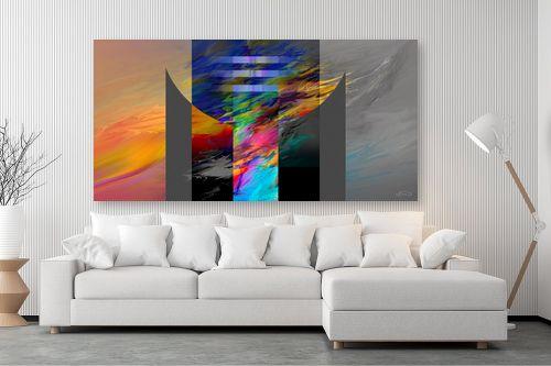 תמונה לסלון - בתיה שגיא - צורה וצבע - מק''ט: 66473