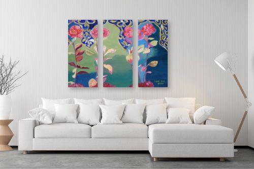 תמונה לסלון - ורד אופיר - פרחים מרוקאיים - מק''ט: 89896