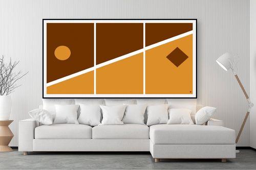 תמונה לסלון - אתי דגוביץ' - דגם גאומטרי 3 - מק''ט: 99067