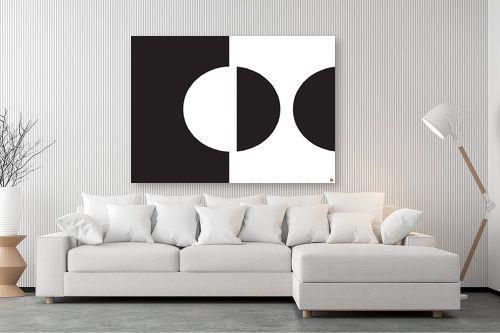 תמונה לסלון - אתי דגוביץ' - עיגול שחור לבן - מק''ט: 99346