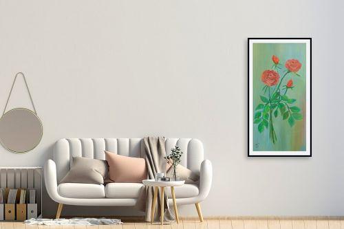 תמונה לחדר כניסה - רינה יניב - זר ורדים - מק''ט: 169573