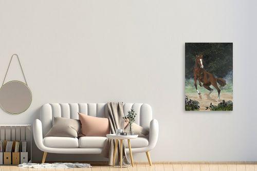 תמונה לחדר כניסה - נריה ספיר - סוס אנרגטי - מק''ט: 284493