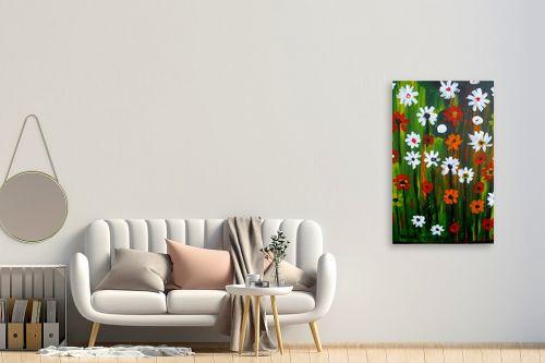 תמונה לחדר כניסה - ורד אופיר - פרחי אביב - מק''ט: 301691