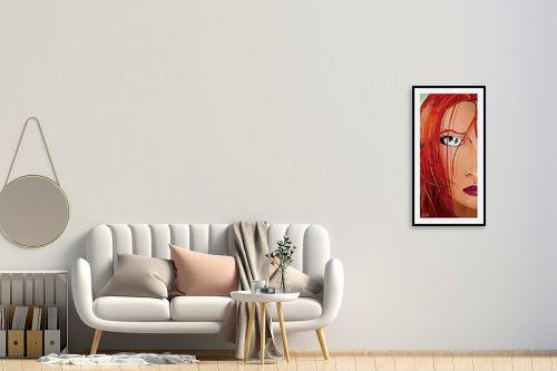 תמונה לחדר כניסה - חנן אביסף - Red Face - מק''ט: 51782