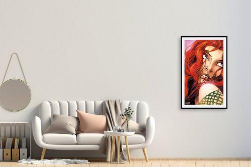 תמונה לחדר כניסה - חנן אביסף - אישה עם שיער אדמוני - מק''ט: 52213