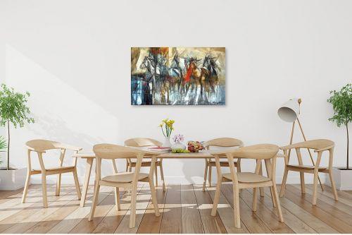 תמונה לפינת אוכל - בן רוטמן - מירוץ סוסים - מק''ט: 144916