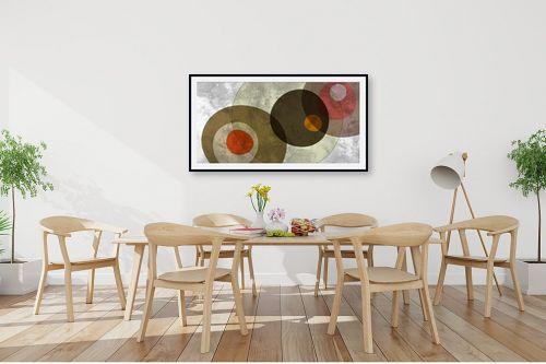 תמונה לפינת אוכל - נעמי עיצובים - אבני צבע - מק''ט: 162022