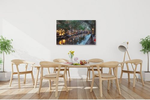 תמונה לפינת אוכל - Artpicked - תעלה באמסטרדם - מק''ט: 333002