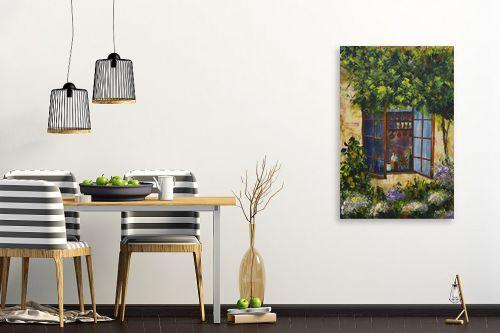 תמונה לפינת אוכל - רוחלה פליישר - החלון לגינה - מק''ט: 174259