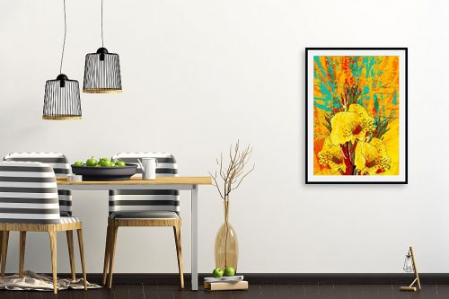 תמונה לפינת אוכל - רוזה לשצ'ינסקי - פרח צהוב - מק''ט: 203681