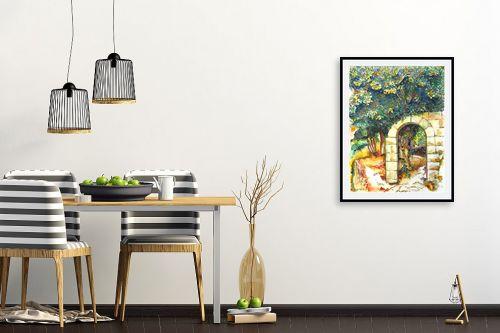 תמונה לפינת אוכל - חיה וייט - עץ תאנה עתיק - מק''ט: 261370