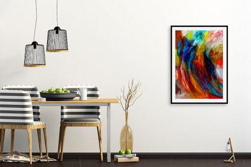 תמונה לפינת אוכל - אסתר חן-ברזילי - סימפוניה בצבעים - מק''ט: 286351