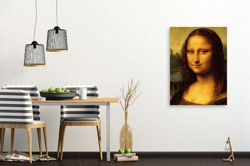 תמונה לפינת אוכל - לאונרדו דה וינצי - Mona Lisa La gioconda - מק''ט: 303468