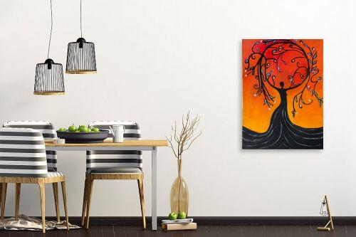 תמונה לפינת אוכל - אסתר חן-ברזילי - אלת עץ הריקוד - מק''ט: 306094