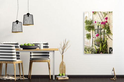 תמונה לפינת אוכל - ויויאן נתן - ורדים בחלון - מק''ט: 309893