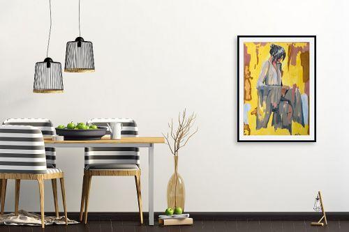 תמונה לפינת אוכל - MMB Art Studio - China Girl  - מק''ט: 315777