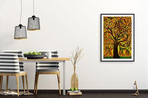 תמונה לפינת אוכל - אסתר חן-ברזילי - עץ מסולסל - מק''ט: 317250