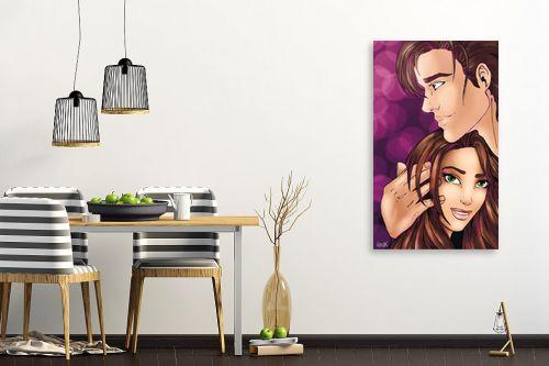 תמונה לפינת אוכל - חנן אביסף - סיפור אהבה רומנטי - מק''ט: 52687