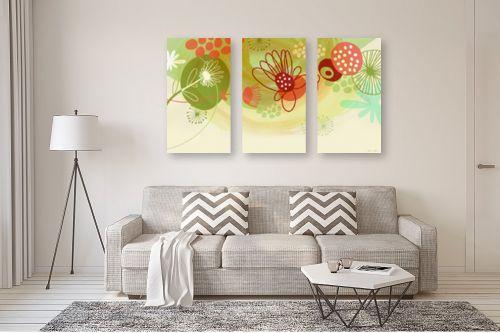 תמונה לסלון - נעמי עיצובים - פרחים שמחים - מק''ט: 158930