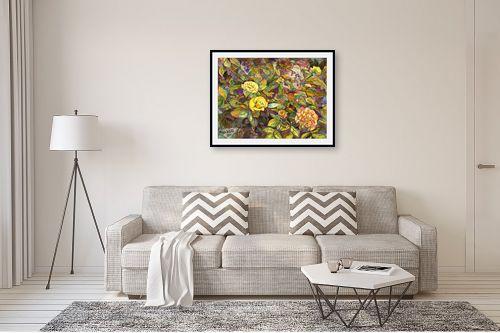 תמונה לסלון - חיה וייט - ורדים צהובים - מק''ט: 213158