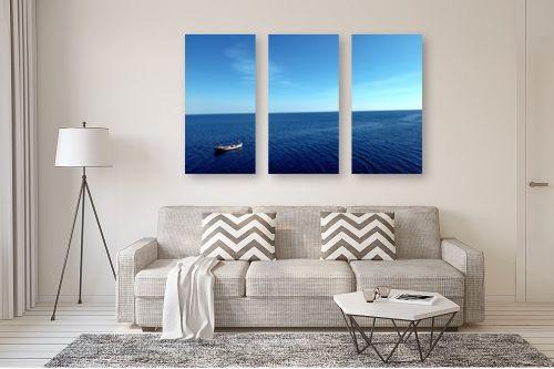 תמונה לסלון - שי וייס - סירה בים שקט - מק''ט: 271719