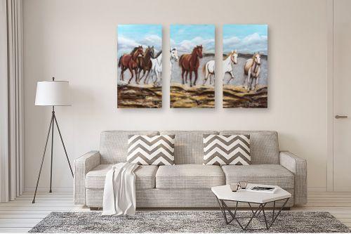 תמונה לסלון - מזל בוכריס - דהרת סוסים - מק''ט: 316335