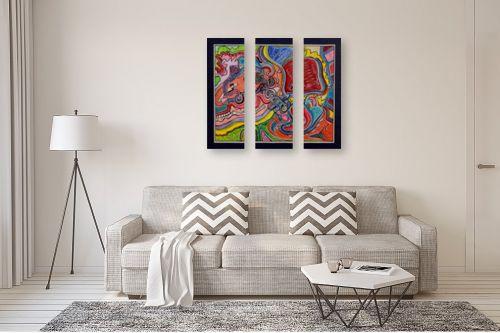 תמונה לסלון - חיים מחט - שבילים צבעוניים - מק''ט: 317386